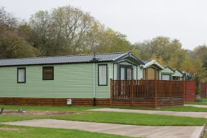 Argill Caravan Park Cumbria Row Of Caravans