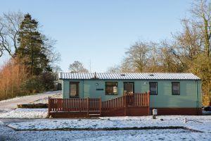 Argill Caravan Park Cumbria Snow