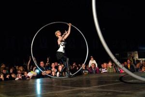 Romantic Cyr Wheel Duo - Woman and Man - Argolla Acrobats