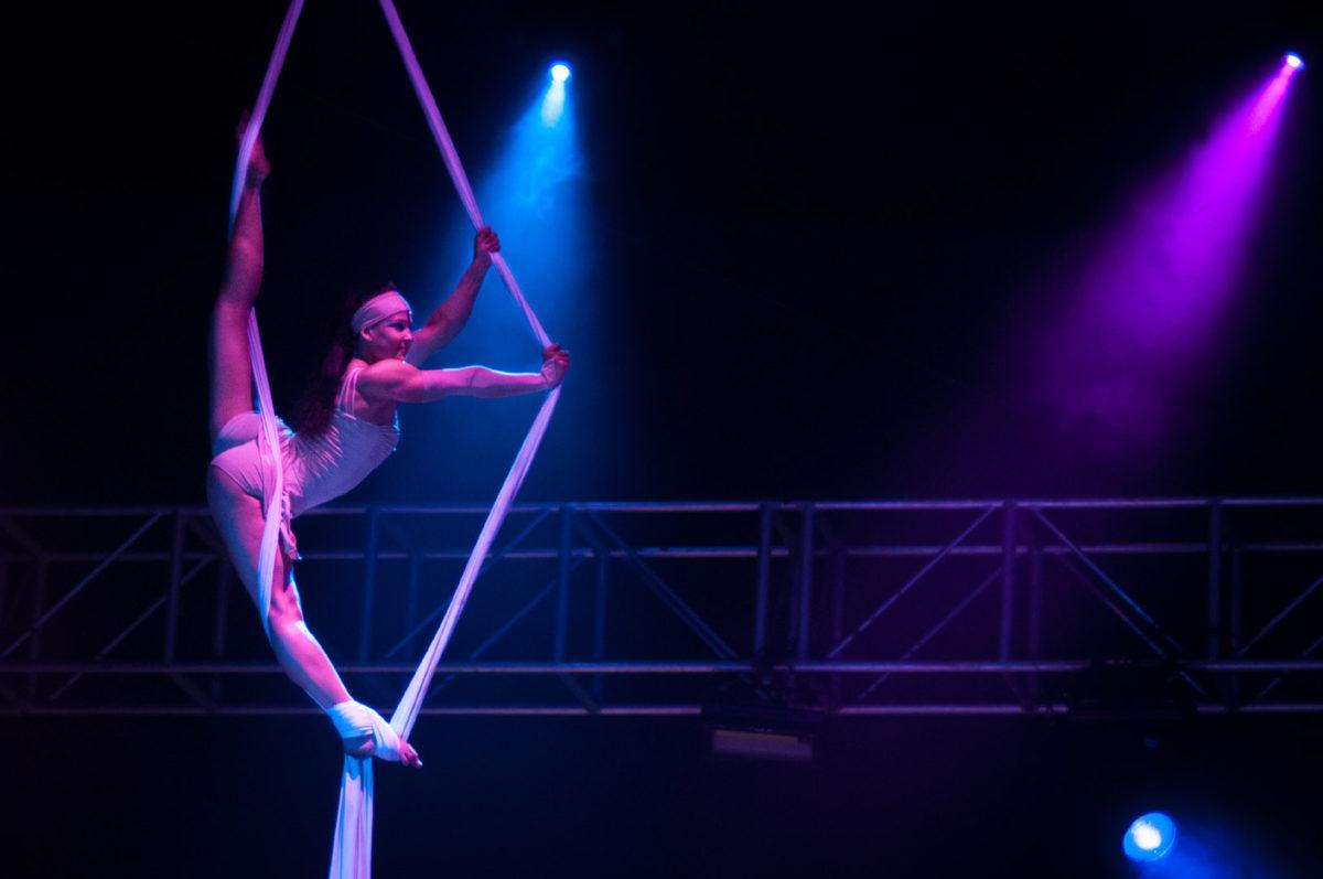 Aerial Acrobat on Silks - Argolla Show