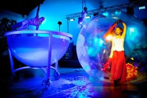 Woman Acrobat in Water Bowl - Argolla Show
