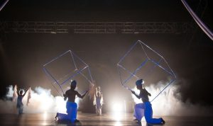 Acrobats with Cubes - Circus Costumes - Argolla Show