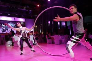Cyr Wheel artists - Argolla dancers - corporate event Kia