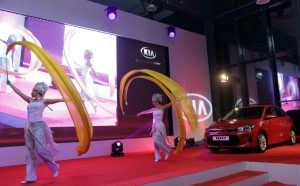 ribbons dancers - car launch event - entertainment Argolla