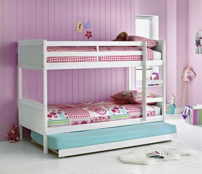 Buy Home Detachable Single Bunk Bed Frame With Trundle