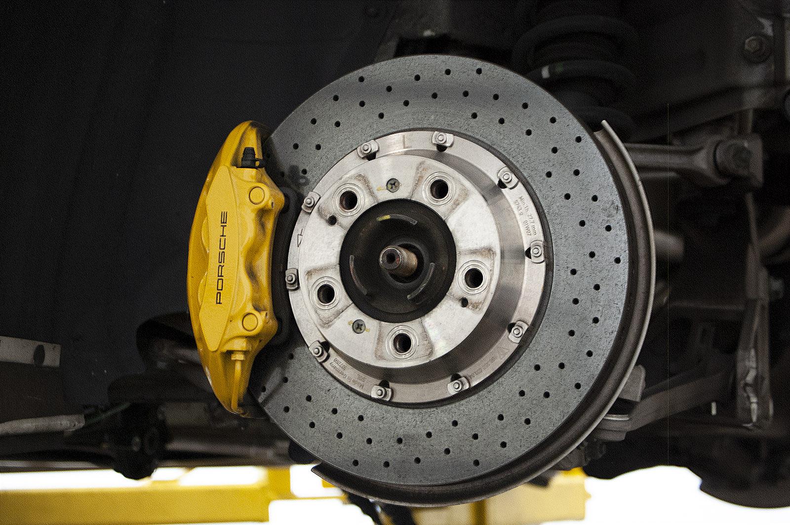 porsche 911 997 turbo brake caliper and rotor