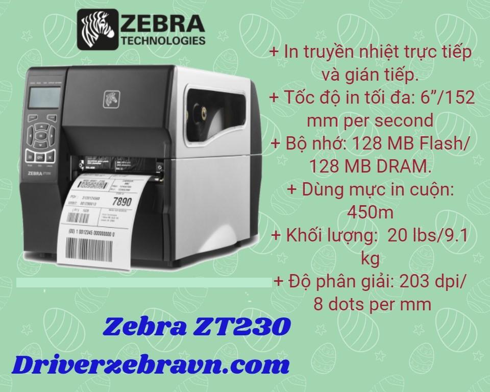 Máy Zebra ZT230 giá rẻ tại Hà Nam