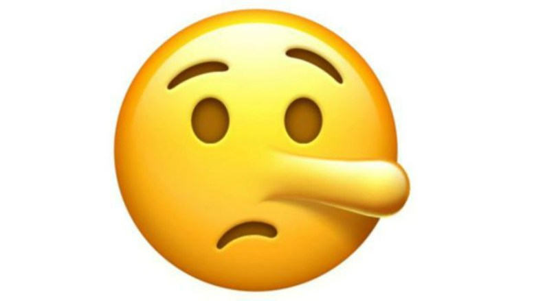 emoticon mentira