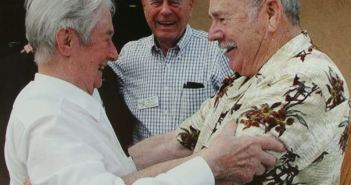 Walter Schuck meets Joe Peterburs who shot him down in 1945