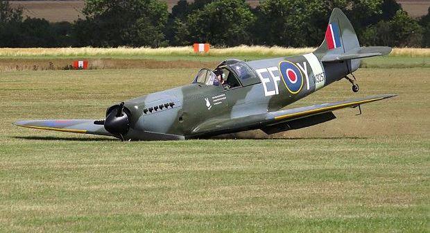 Replica Spitfire Crash