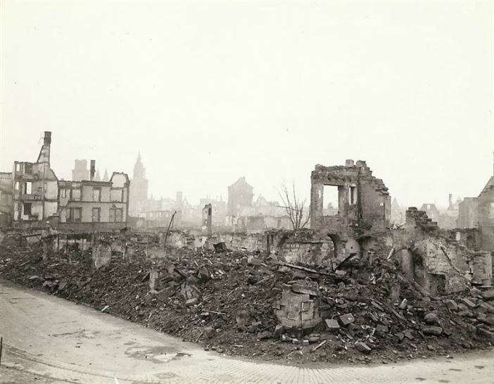 Obliterated German town
