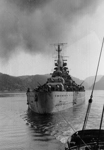 Tirpitz Norwegian waters in 1942-44. (Credits: U.S. Naval Historical Center)
