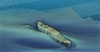 Cleaned version of the multibeam data acquired over the SS Tiberia. (Credits: Marine Institute)