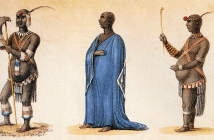 """Dingane kaSenzangakhona in Ordinary and Dancing Dresses"", by Captain Allen Francis Gardiner."