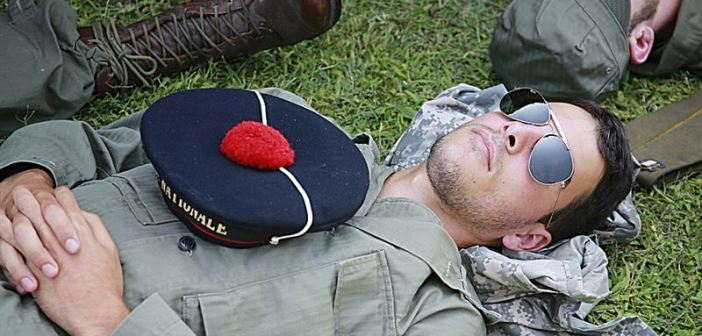 Soldiers Relaxing
