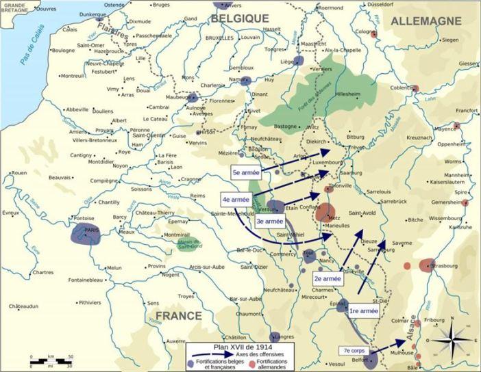 French Plan XVII honor belgian neutrality