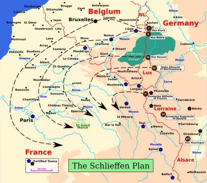 Schlieffen Plan Map