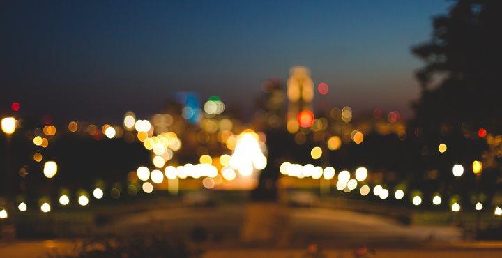 Размытое фото ночного города