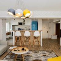 Amenajare apartament in stil scandinav cu accente retro