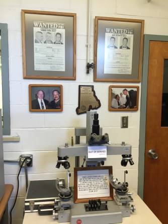 The microscope used for MLK bullet review