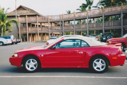 Mustang I rented while attending the Maui Writers Conference in 2004.