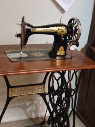 Old Singer treadle sewing machine.