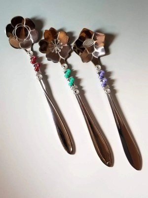 Beaded Floral Spoons