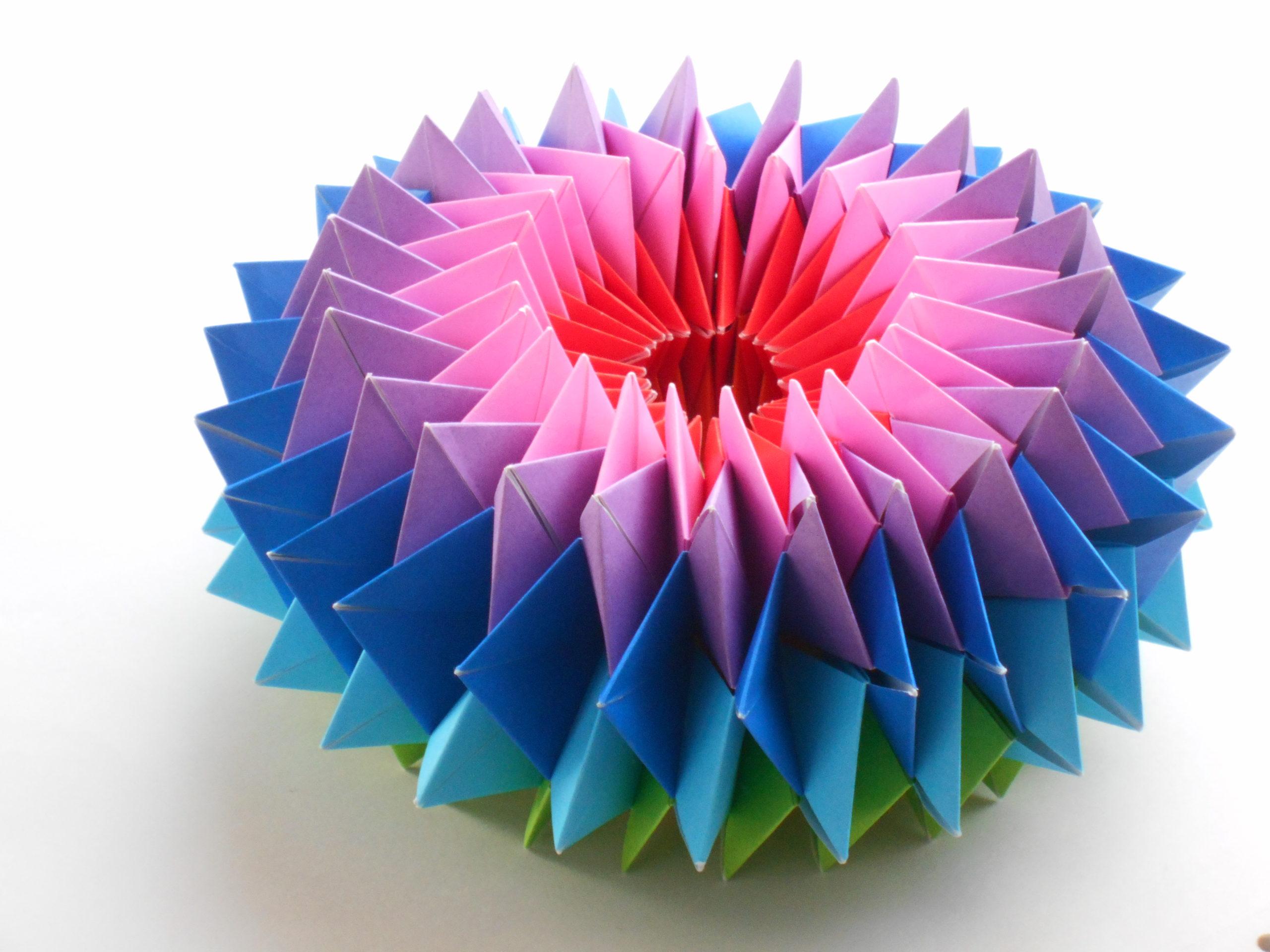 折り紙 万華鏡 折り 方 遊べる折り紙【簡単な万華鏡】折り方...