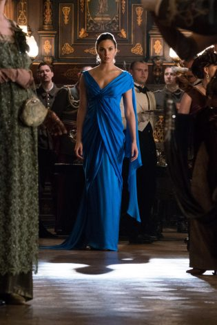 Wonder Woman blue gala gown