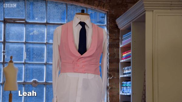 leah pink waistcoat