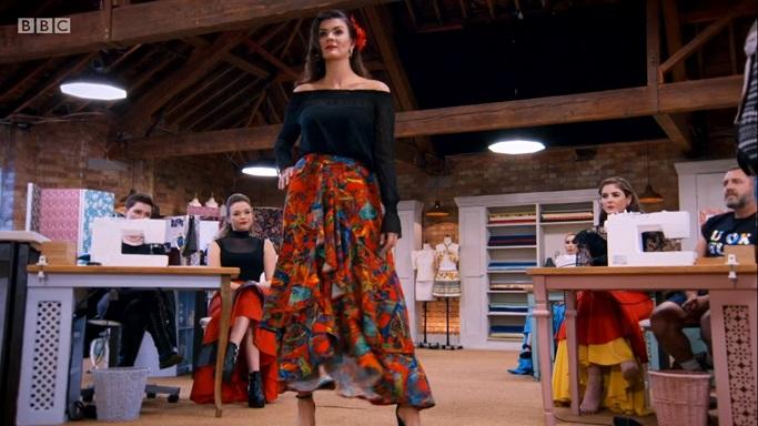 mark garish flamenco skirt