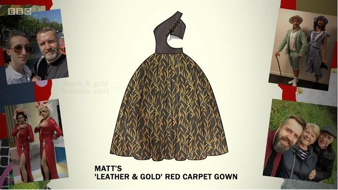 matt gown sketch