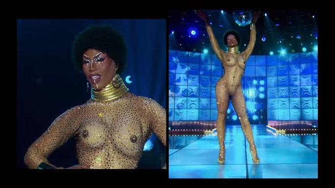Shea Coulee nude runway