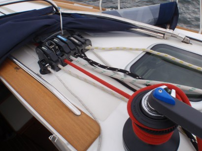 Cabin-top winch and jammers