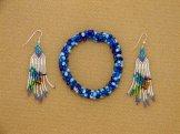 Hummingbird Earrings & Hula Bracelet