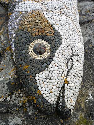 Mosaic fish, Loch Maddy