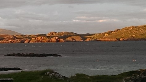 Evening, looking across to Mull