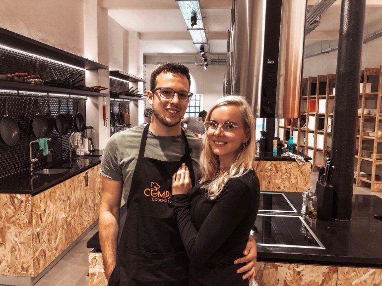 Ben and I at the Compadre Cooking class in Lisbon