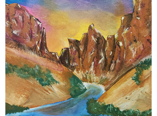 Little Colorado River Confluence Color Palette by Ariana Dagan