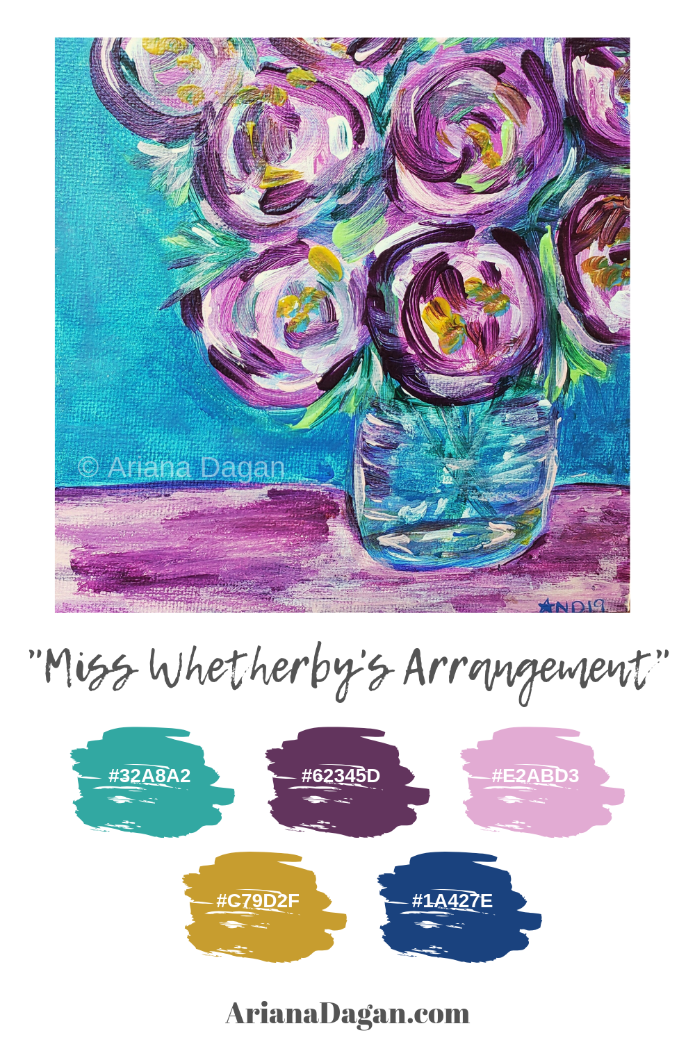 Miss Whetherby's Arrangement Color Palette by Ariana Dagan