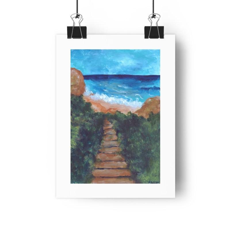 """""""Torrey Pines"""" Painting Giclée Art Print – 8″x11″"""