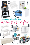 Craft Storage for the Kitchen Table Crafter