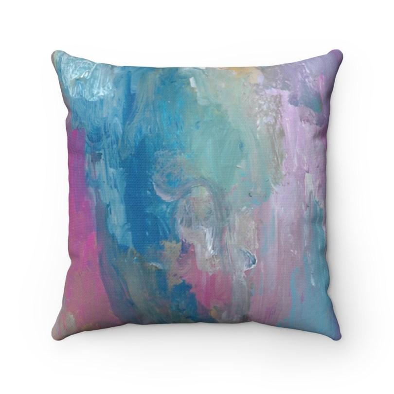 A Sunset Rainstorm Spun Polyester Square Pillow