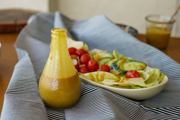 molho mostarda e melaço - molho de saladas vegan