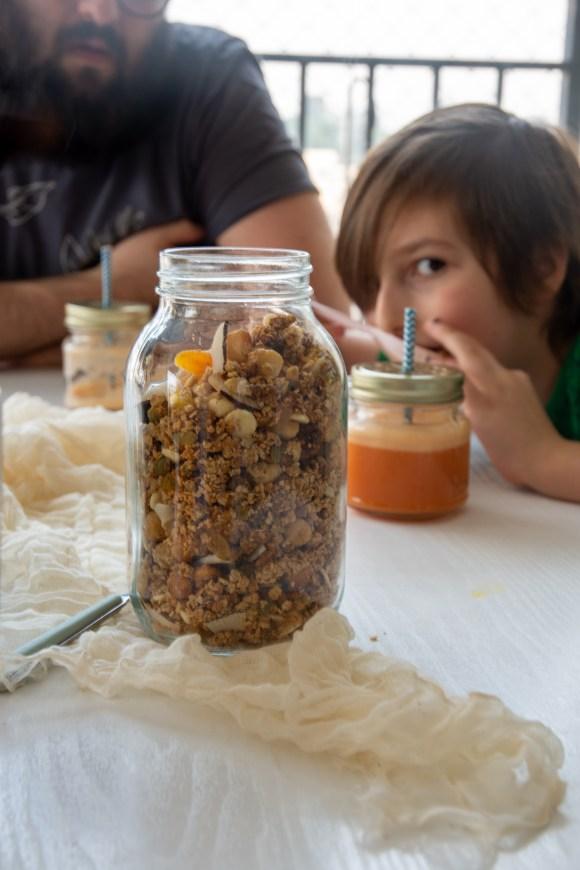 como fazer granola em casa