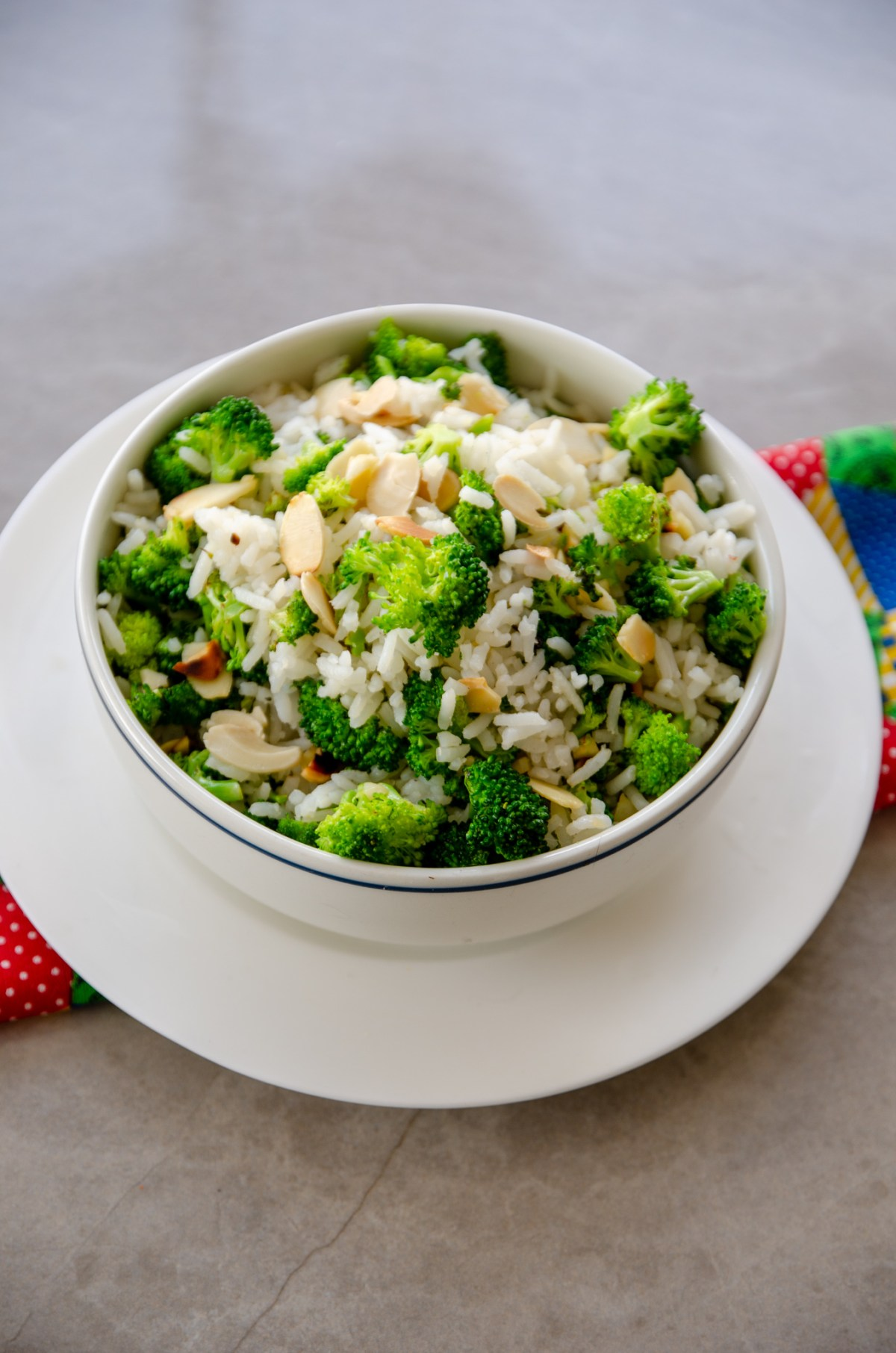 arroz com brocolis e amendoas