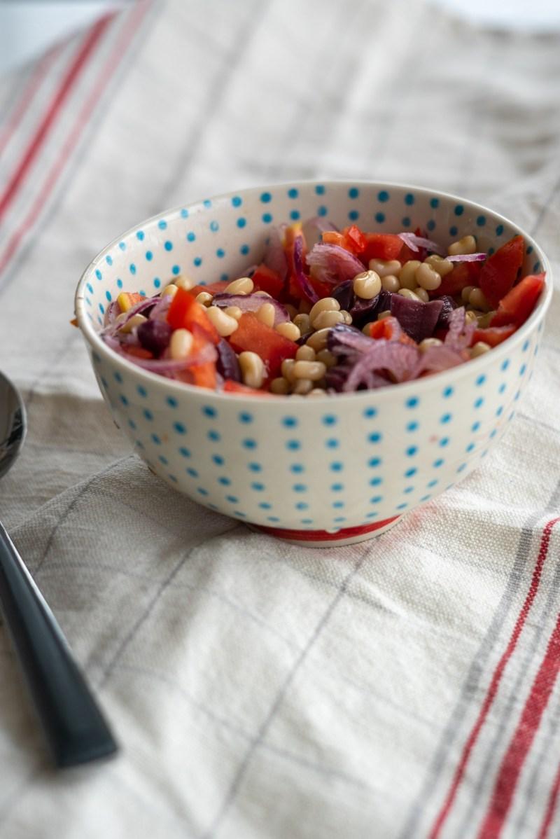 salada de feijao e azeitona