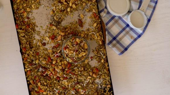 granola caseira para salgados