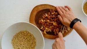 receita de granola para saladas