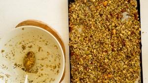 granola caseira salgada receita